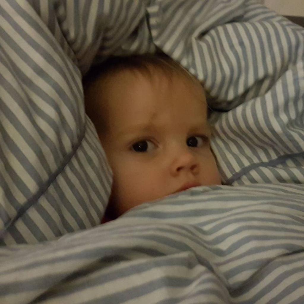 Mama ist unterwegs und wir probieren mal dieses Einschlafen