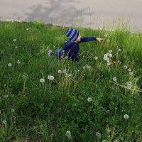 Kinder und Blumen