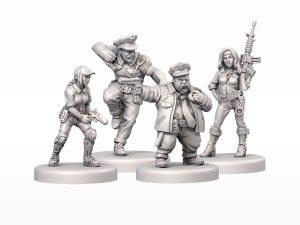 Hard City Cop Miniatures
